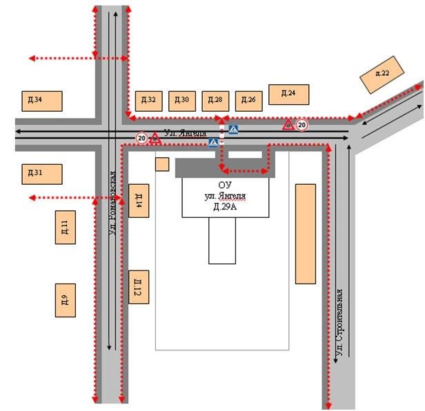 Проект организации дорожного движения образец